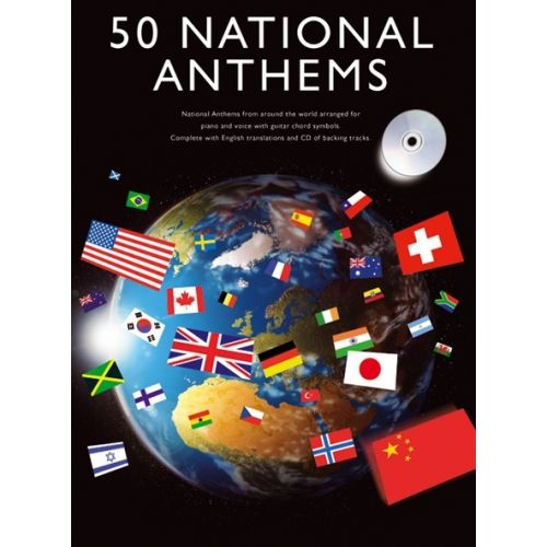 WISE PUBLICATIONS 50 NATIONAL ANTHEMS + CD - PVG