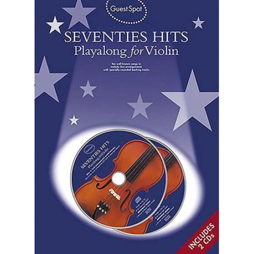 WISE PUBLICATIONS GUEST SPOT - SEVENTIES HITS + CD - VIOLON