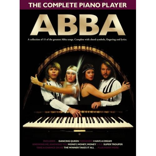 WISE PUBLICATIONS THE COMPLETE PIANO PLAYER ABBA - PVG