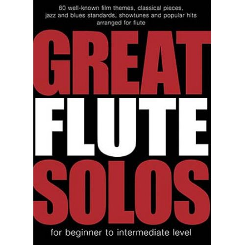 WISE PUBLICATIONS GREAT FLUTE SOLOS - 60 PIECES