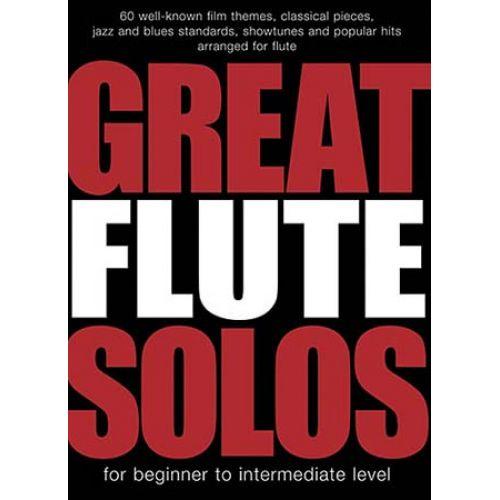 WISE PUBLICATIONS GREAT FLUTE SOLOS - 60 PIECES