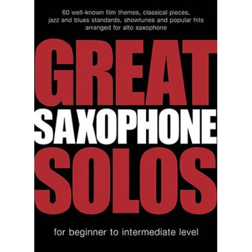 WISE PUBLICATIONS GREAT SAXOPHONE SOLOS - 60 THEMES - ALTO SAX