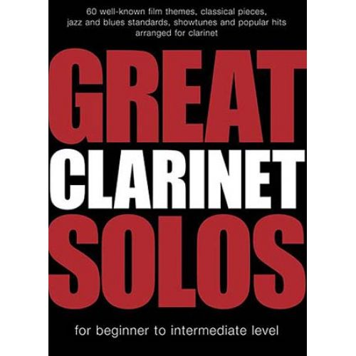 WISE PUBLICATIONS GREAT CLARINET SOLOS - 60 TITLES