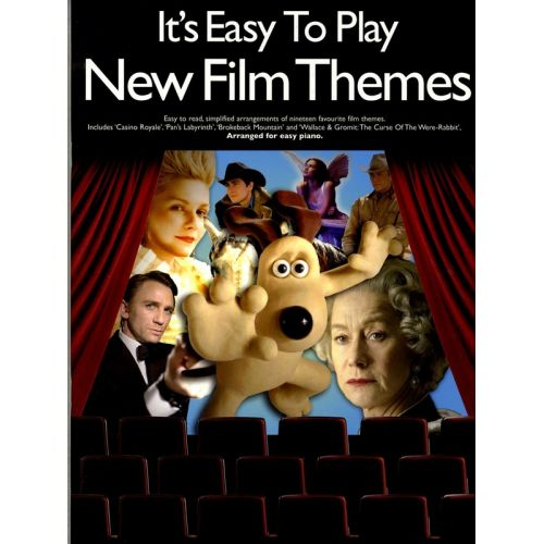 WISE PUBLICATIONS IT'S EASY TO PLAY NEW FILM THEMES - PIANO SOLO