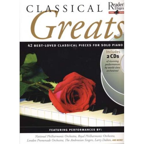 AMSCO CLASSICAL GREATS 42 BEST-LOVED CLASSICAL PIECES + 2 CD - PIANO