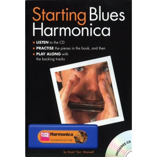 WISE PUBLICATIONS STUART 'SON' MAXWELL - STARTING BLUES HARMONICA - HARMONICA
