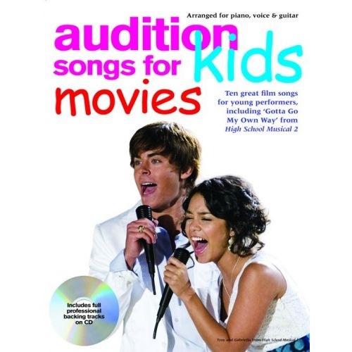 WISE PUBLICATIONS AUDITION SONGS FOR KIDS MOVIES + CD - PVG