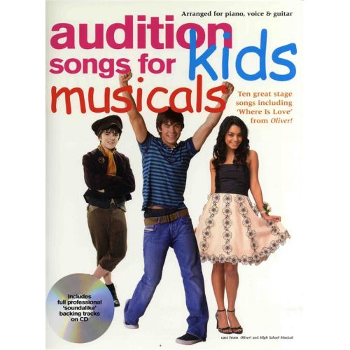 WISE PUBLICATIONS AUDITION SONGS FOR KIDS MUSICALS + CD - PVG