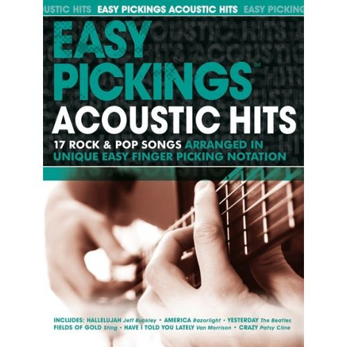 WISE PUBLICATIONS EASY PICKING ACOUSTIC HITS - GUITAR