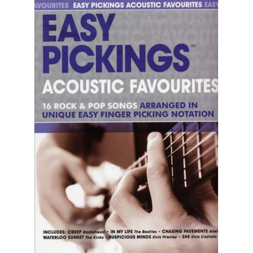 WISE PUBLICATIONS EASY PICKINGS ACOUSTIC FAVOURITES 16 ROCK & POP SONGS - GUITAR