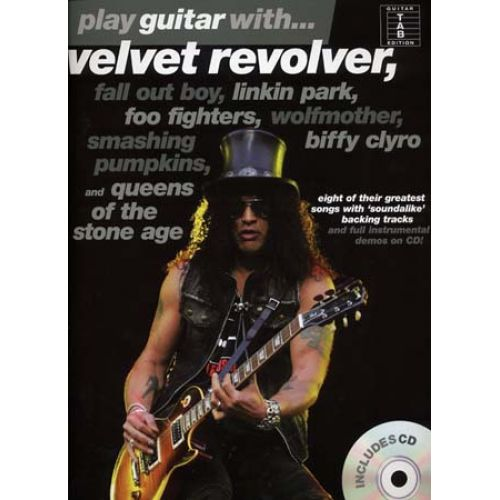 WISE PUBLICATIONS PLAY GUITAR WITH VELVET REVOLVER LINKIN PARK, SMASHING...- GUITAR TAB + CD