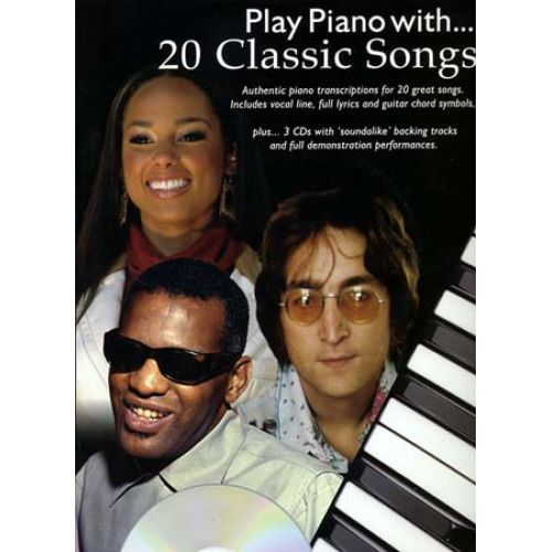 WISE PUBLICATIONS PLAY PIANO WITH - 20 CLASSIC SONGS + 3 CDs