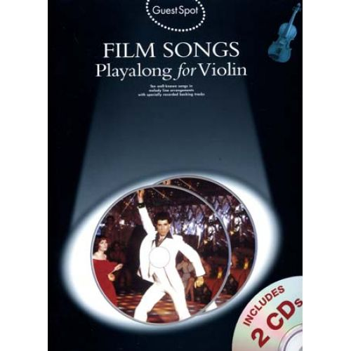 WISE PUBLICATIONS GUEST SPOT - FILM SONGS + 2 CD - VIOLIN