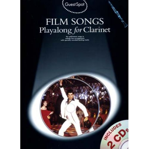 WISE PUBLICATIONS GUEST SPOT - FILM SONGS + 2CD - CLARINET