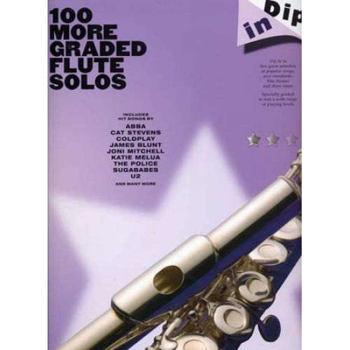 WISE PUBLICATIONS 100 MORE GRADED FLUTE SOLOS DIP IN