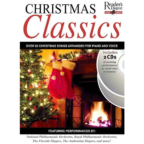 MUSIC SALES READER'S DIGEST PIANO LIBRARY CHRISTMAS CLASSICS + 2CDS - PIANO