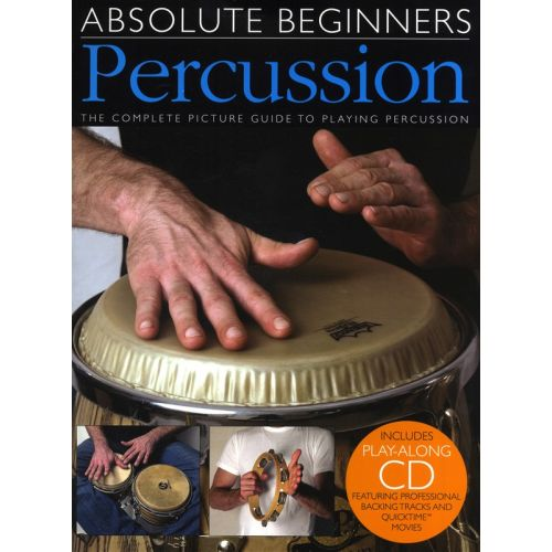 WISE PUBLICATIONS ABSOLUTE BEGINNERS PERCUSSION BOOK PLUS CD - PERCUSSION