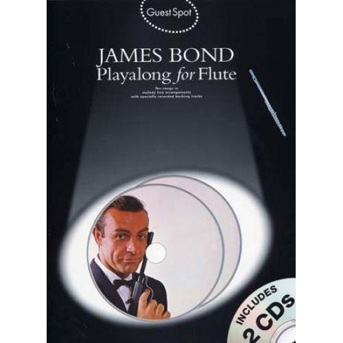 WISE PUBLICATIONS GUEST SPOT JAMES BOND FLUTE + 2 CD