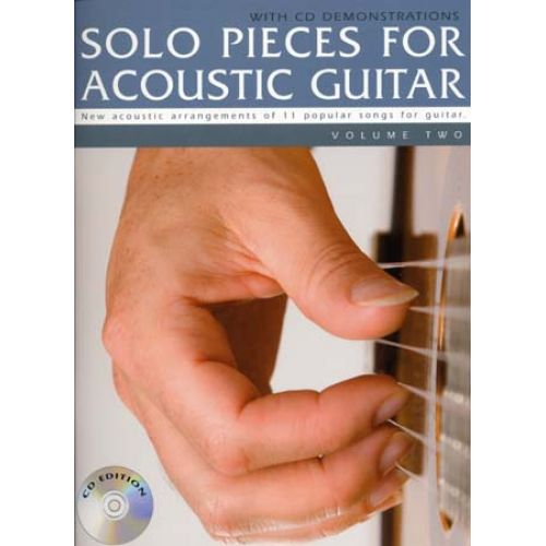 WISE PUBLICATIONS SOLO PIECES FOR ACOUSTIC GUITAR VOL.2 + CD - GUITAR TAB