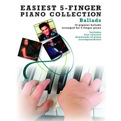 WISE PUBLICATIONS EASIEST 5-FINGER PIANO COLLECTION BALLADS