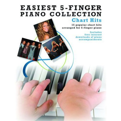 WISE PUBLICATIONS EASIEST 5-FINGER PIANO COLLECTION CHART HITS