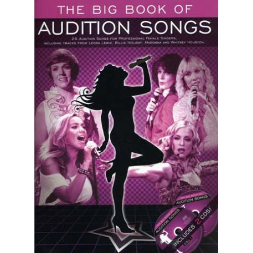 WISE PUBLICATIONS BIG BOOK OF AUDITION SONGS FOR FEMALE SINGERS + 2 CD - PVG