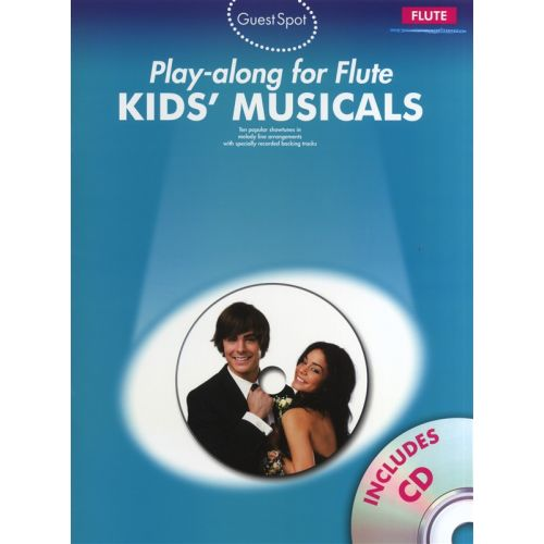 WISE PUBLICATIONS PLAYALONG FOR FLUTE KIDS MUSICALS - FLUTE