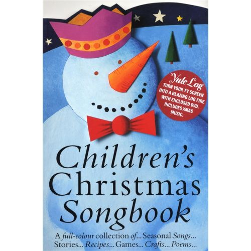 MUSIC SALES CHILDREN'S CHRISTMAS SONGBOOK - IN COLOUR YULE LOG DVD PF + DVD - PIANO SOLO