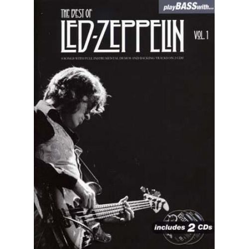WISE PUBLICATIONS LED ZEPPELIN - PLAY BASS WITH - BEST OF VOL.1 + 2 CD