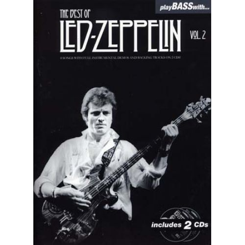 WISE PUBLICATIONS LED ZEPPELIN - PLAY BASS WITH - BEST OF VOL.2 + 2 CD - BASSE TAB