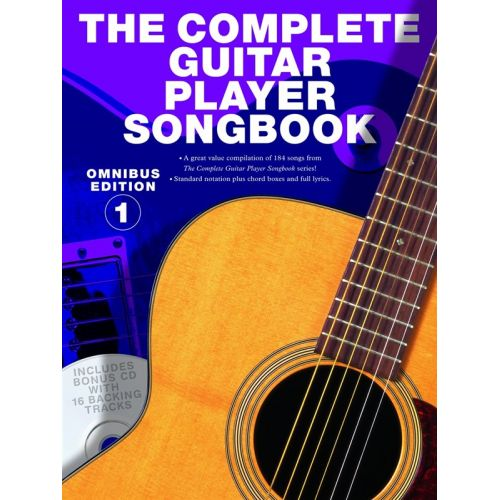 WISE PUBLICATIONS THE COMPLETE GUITAR PLAYER SONGBOOK OMNIBUS EDITION 1 BOOK+CD - MELODY LINE, LYRICS AND CHORDS