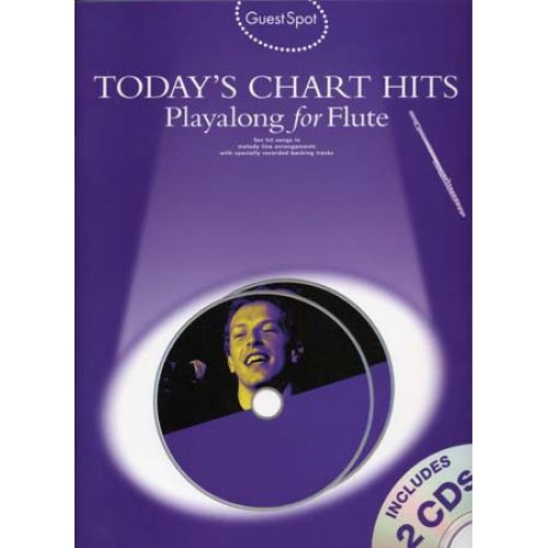 WISE PUBLICATIONS GUEST SPOT TODAY'S CHART HITS FLUTE + CD