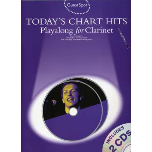 WISE PUBLICATIONS GUEST SPOT TODAY'S CHART HITS CLARINET + CD