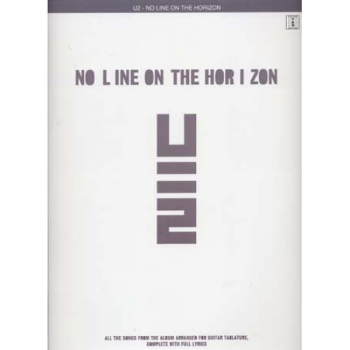 WISE PUBLICATIONS U2 - NO LINE ON THE HORIZON - GUITARE TAB