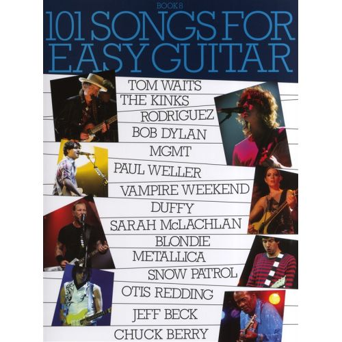 WISE PUBLICATIONS 101 SONGS FOR EASY GUITAR BOOK 8 - MELODY LINE, LYRICS AND CHORDS