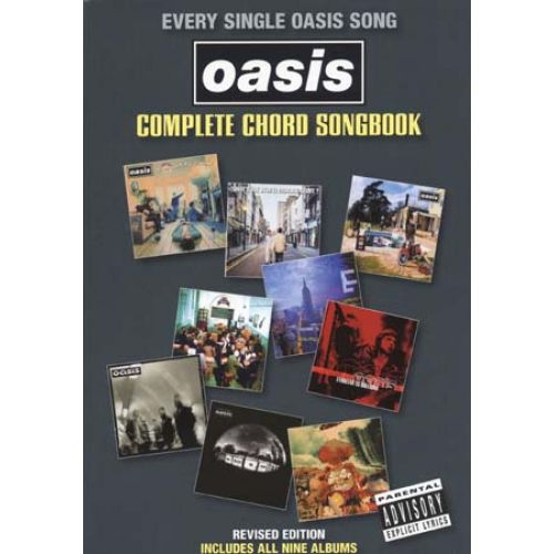 WISE PUBLICATIONS OASIS - COMPLETE CHORD SONGBOOK REVISED EDITION 2009