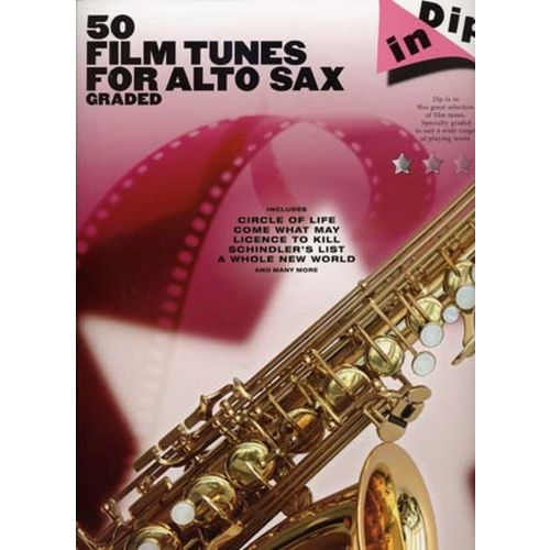 WISE PUBLICATIONS DIP IN 50 FILM TUNES FOR GRADED ALTO SAX