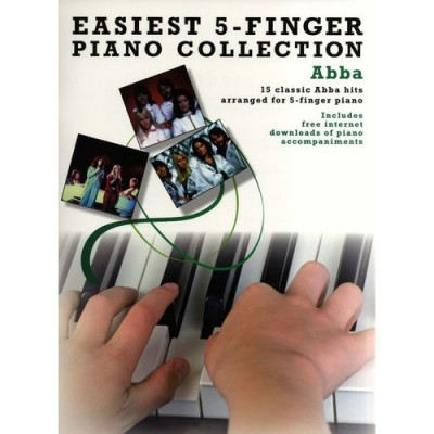 WISE PUBLICATIONS EASIEST 5-FINGER PIANO COLLECTION ABBA