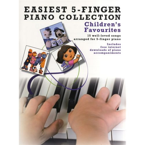 WISE PUBLICATIONS EASIEST 5-FINGER PIANO COLLECTION CHILDREN'S FAVOURITES - PIANO SOLO