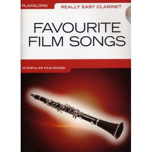 WISE PUBLICATIONS REALLY EASY CLARINET PLAYALONG FAVOURITE FILM + CD - CLARINET