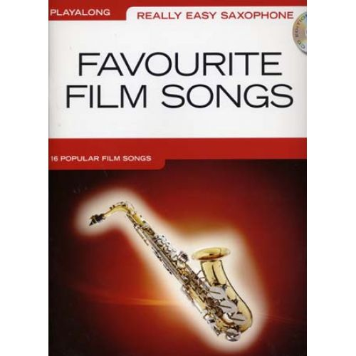 WISE PUBLICATIONS REALLY EASY SAXOPHONE PLAYALONG FAVOURITE FILM + CD - SAXOPHONE