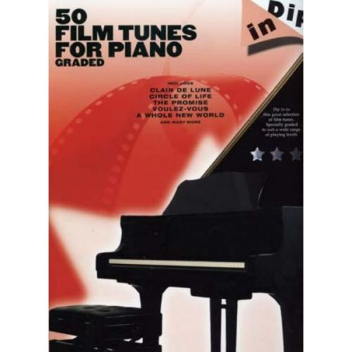 WISE PUBLICATIONS DIP IN 50 FILM TUNES FOR GRADED - PIANO