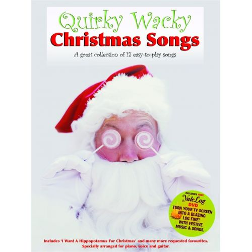WISE PUBLICATIONS QUIRKY WACKY CHRISTMAS SONGS PVG + DVD - PVG
