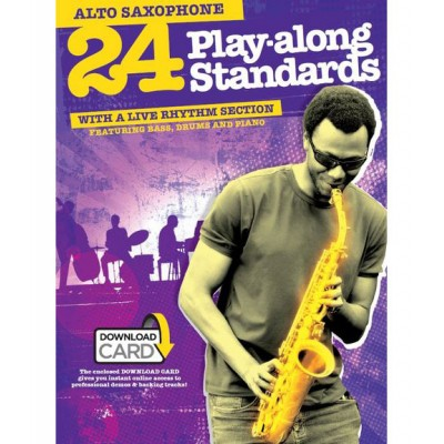 WISE PUBLICATIONS 24 PLAY ALONG STANDARDS + 2 CD - ALTO SAXOPHONE
