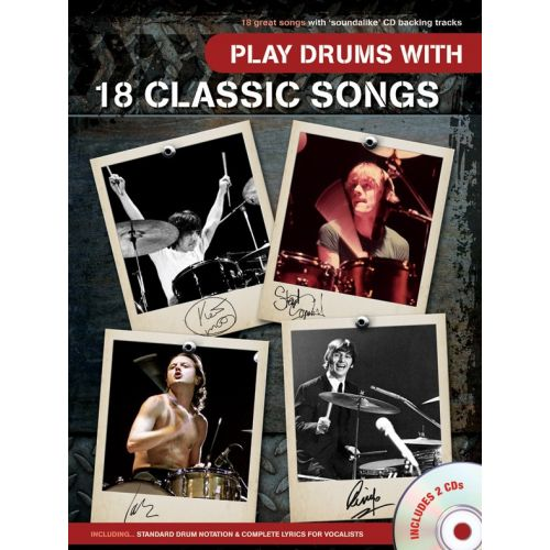 WISE PUBLICATIONS PLAY DRUMS WITH 18 CLASSIC SONGS - DRUMS