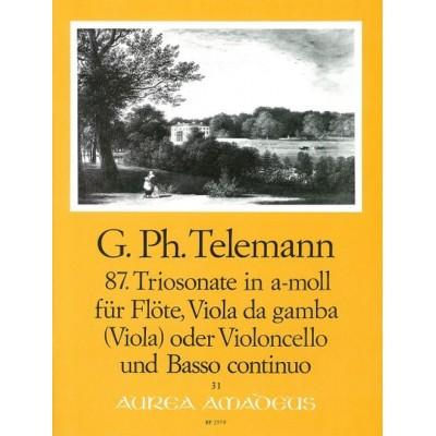 AMADEUS TELEMANN G.P. - TRIOSONATE IN A-MOLL TWV 42:A7