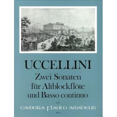 AMADEUS UCCELLINI MARCO - 3 SONATAS op. 4 N° 9-10 - FLUTE A BEC ALTO & BC