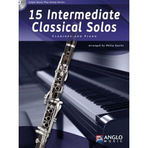 ANGLO MUSIC 15 INTERMEDIATE CLASSICAL SOLOS - CLARINETTE & PIANO + CD