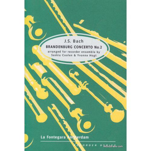 ASCOLTA MUSIC PUBLISHING BACH J.S. - BRANDENBURG CONCERTO NR 2 - ENSEMBLE DE FLUTES A BEC
