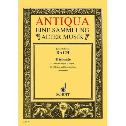 SCHOTT BACH J.S. - TRIOSONATA C MAJOR BWV 1037 - 2 VIOLINS AND BASSO CONTINUO , CELLO AD LIB.